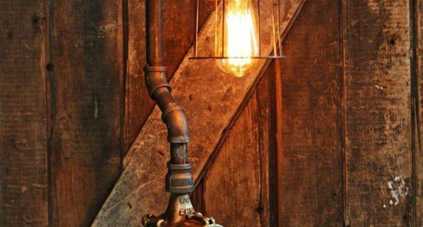 Steampunk Lamp Industrial Machine Steam Gauge Light Train