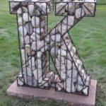 Steel Rebar Cage Filled Rock Todd Art Pinterest