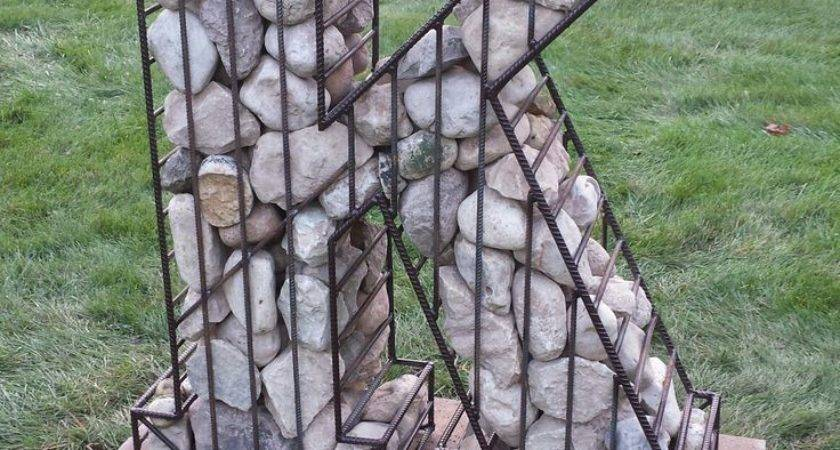 Steel Rebar Cage Filled Rock Todd Art Pinterest