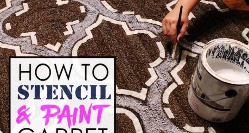 Stencil Paint Carpet Hometalk