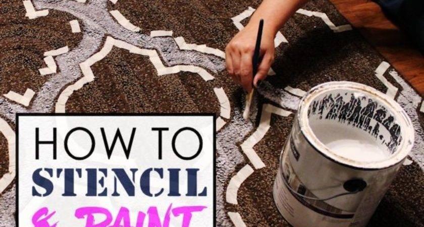 Stencil Paint Carpet Large Area