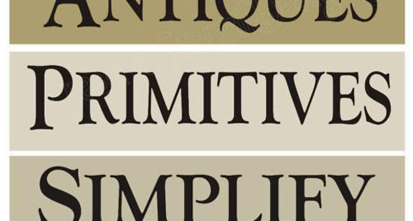 Stencils Antiques Primitive Simplify Gatherings Country