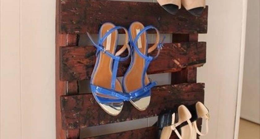 Steps Make Beautiful Pallet Shoe Racks Pallets Designs