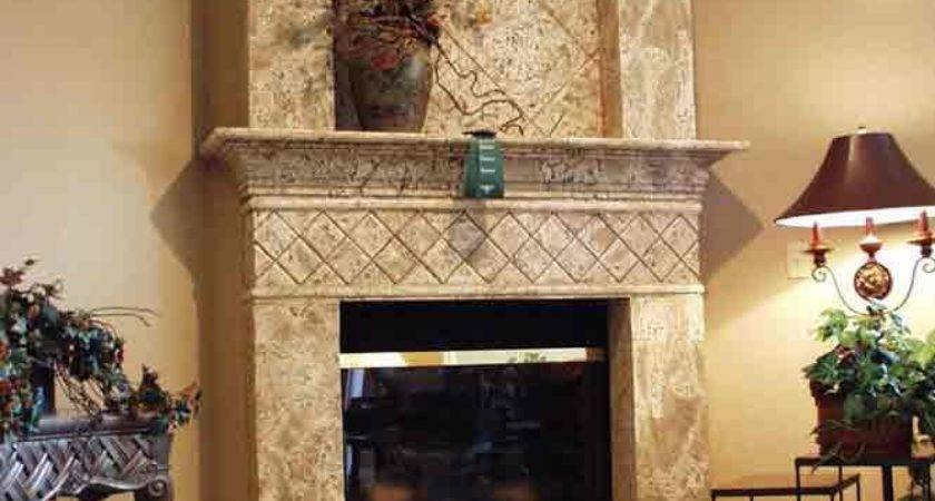 Stone Fireplace Design Remodel
