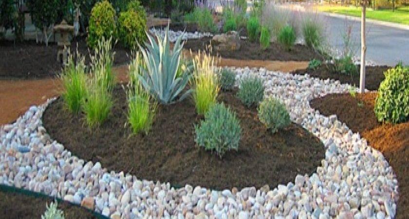 Stone Landscape Design Mulch River Rock Landscaping