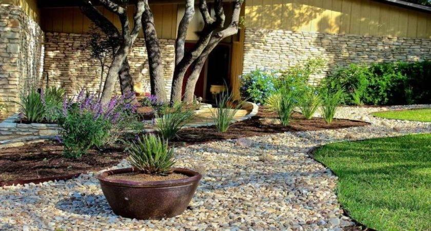 Stone Landscaping Ideas Design Front Yard