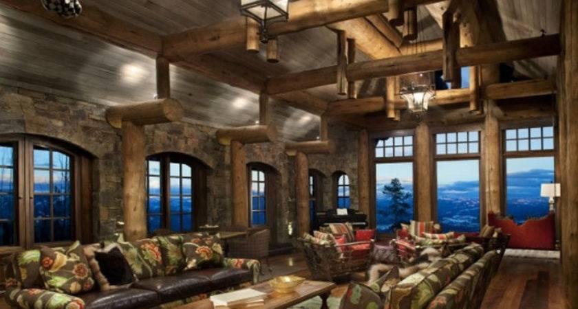 Stone Mountain Chalet Decor Modern Home