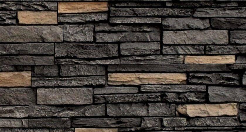 Stoneworks Faux Stone Siding Slate Onyx