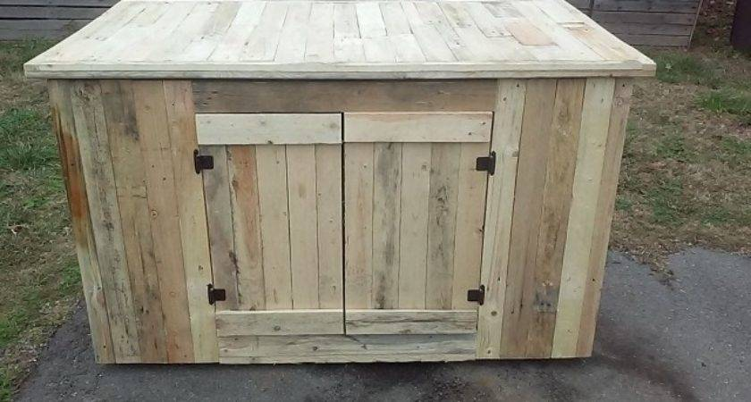 Storage Cabinets Made Out Pallets Pallet Kitchen