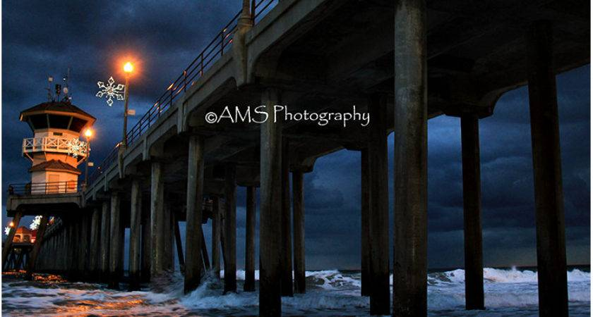 Stormy Pier Mouse Pad Ams Photography