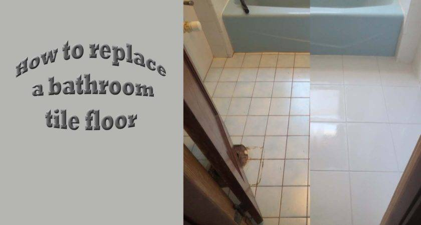 Strat Finish Replace Old Bath Tile Floor New
