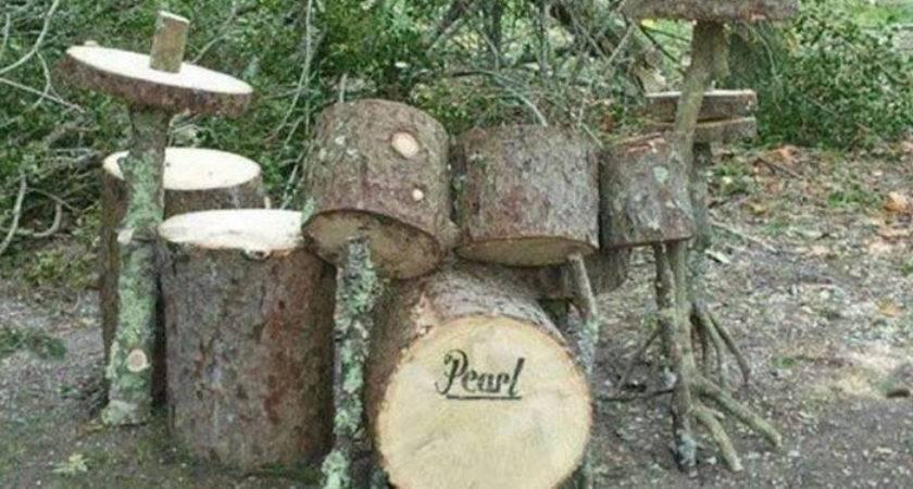 Stump Decorations Ideas Recycle Tree Garden