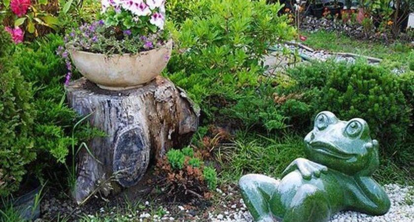 Stump Decorations Ideas Recycle Tree Stumps