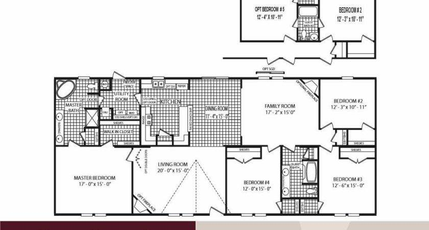 Stunning Bedroom Double Wide Floor Plans Inspirations