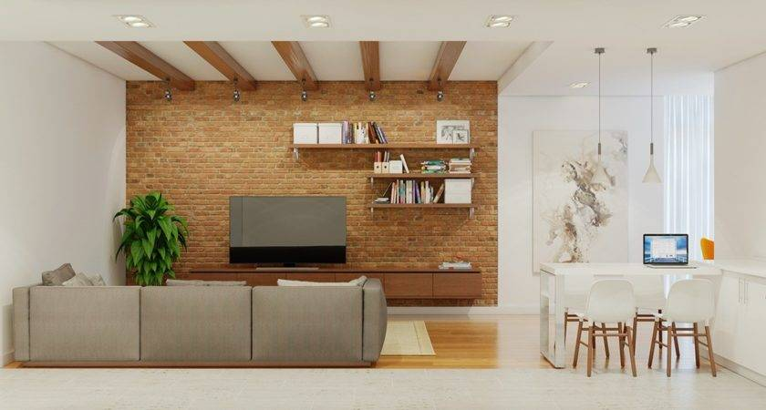 Stunning Homes Exposed Brick Accent Walls