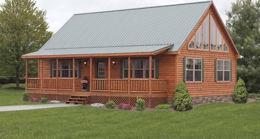 Stunning Mountaineer Deluxe Exterior Log Cabin Double Wide
