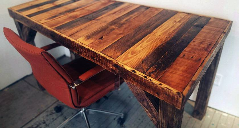 Stunning Reclaimed Wood Desks