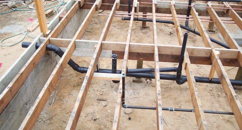 Sub Floor Plumbing Pipes Framing