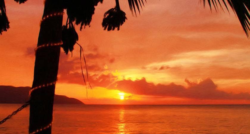 Sunset Off Wall Painting Linda Morland