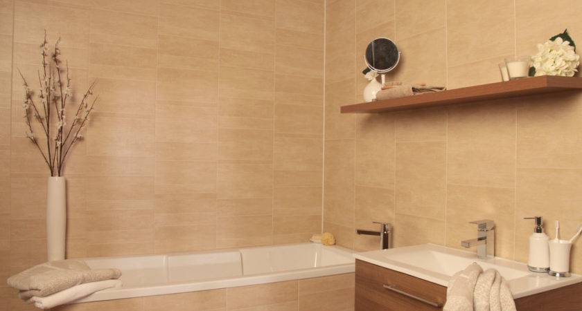 Swish Marbrex Sandstone Tile Effect Bathroom Cladding Wall