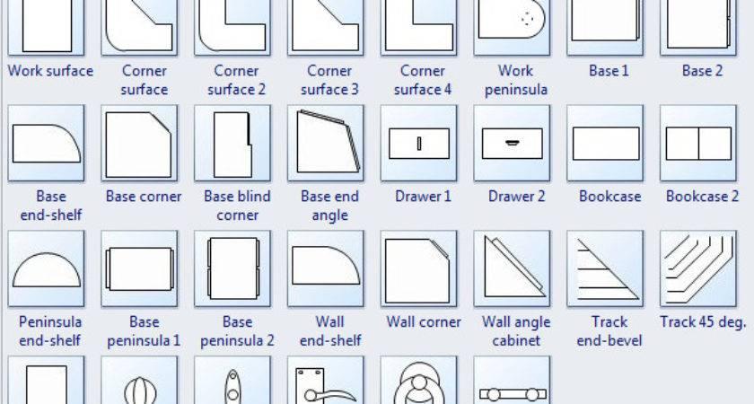 Symbols Floor Plan Cabinet Bookcase