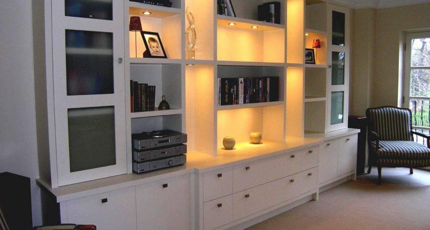 Tall Built Cabinets Living Room Modern Home Design Ideas