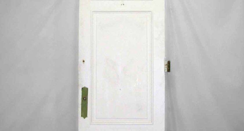 Tall White Door Three Raised Panels Olde Good