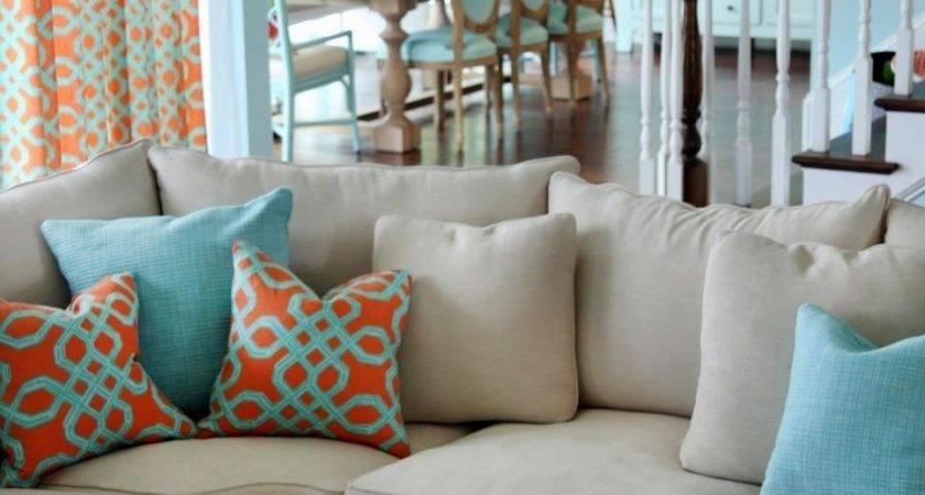 Teal Orange Living Room Nana Workshop