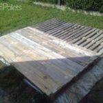 Terrace Deck Made Out Repurposed Pallets