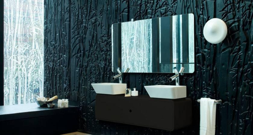Textured Bathroom Paint Design Ideas