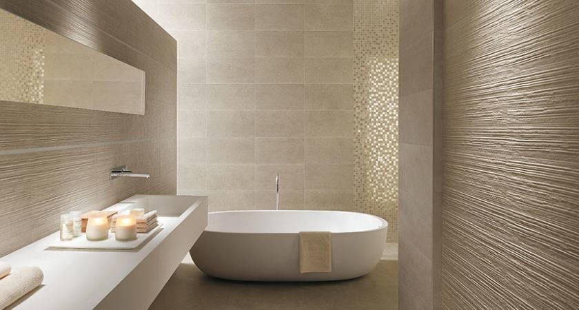 Textured Bathroom Walls Interior Design Ideas