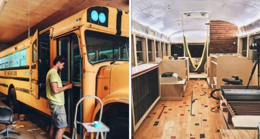 They Turned School Bus Into Tiny Home Looks Nicer