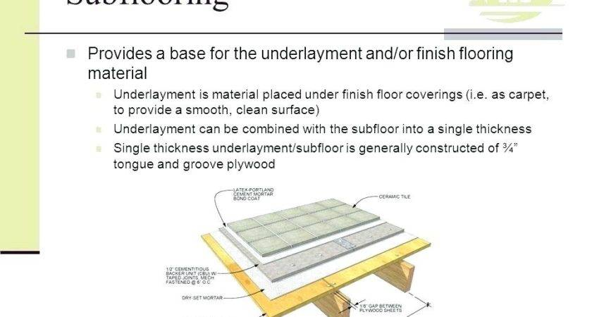 Thickness Plywood Subfloor Tile Thefloors