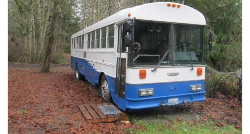 Thomas School Bus Converted Into Tiny Home New Way