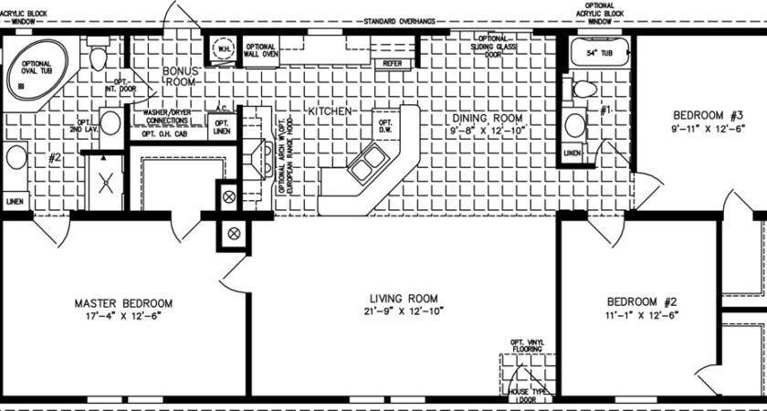 Three Bedroom Mobile Homes Floor Plans