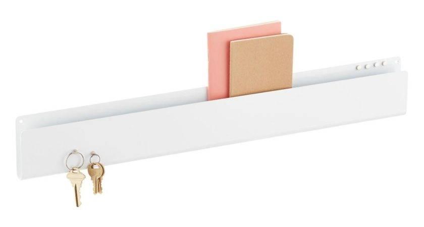 Three White Magnetic Wall Pocket Strip