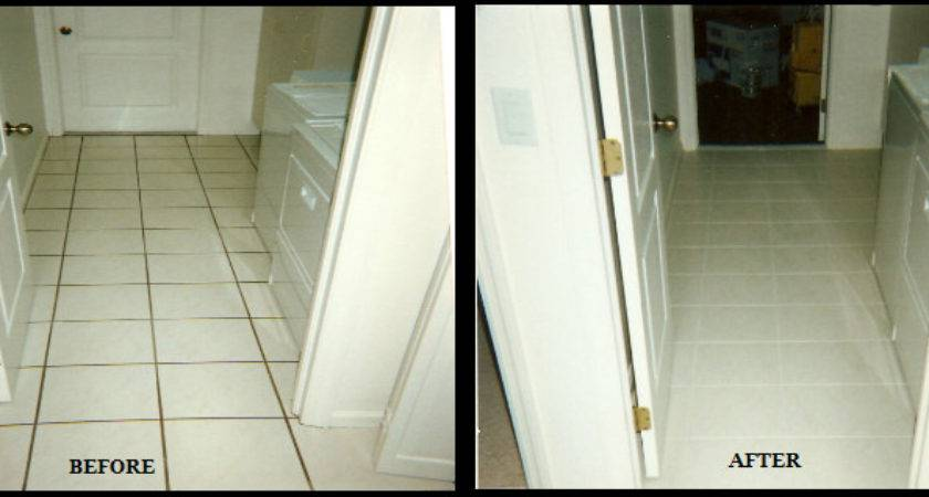 Tile Grout Cleaning Repair Color Before After