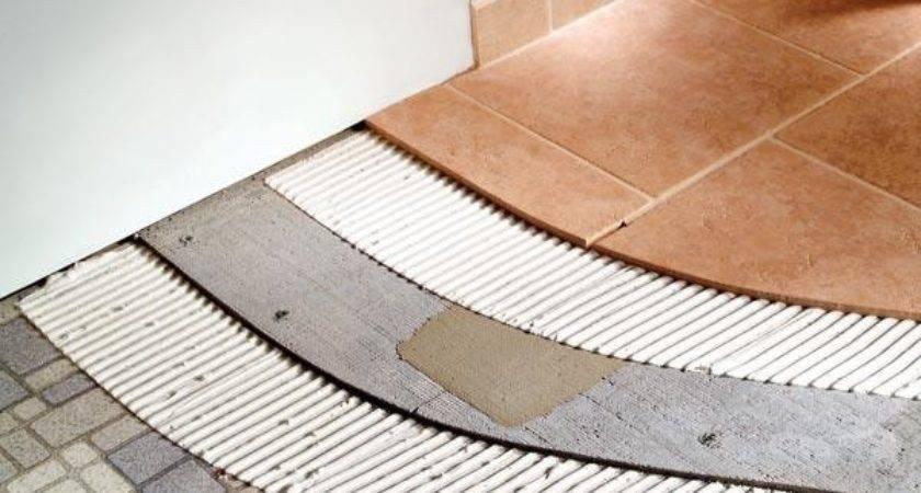 Tile Over Vinyl Floor Concrete Thefloors