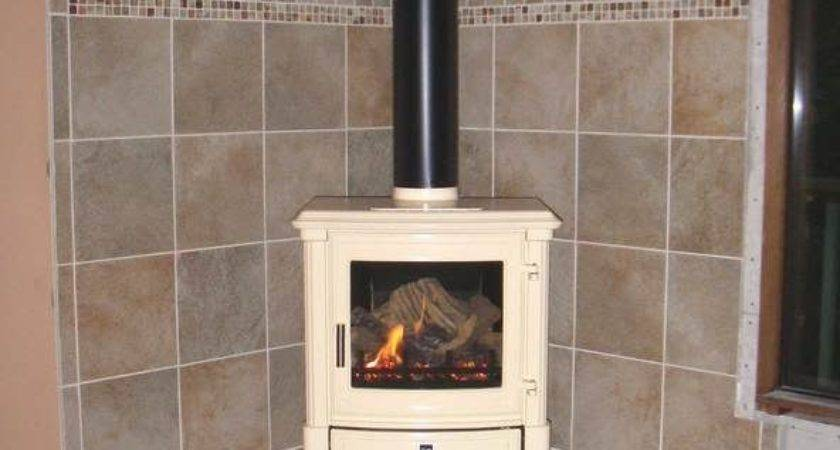 Tiled Wood Stove Hearth Preview Least