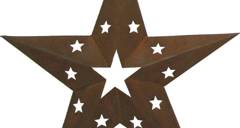 Tin Star Cutouts Decor Rustic Decorative