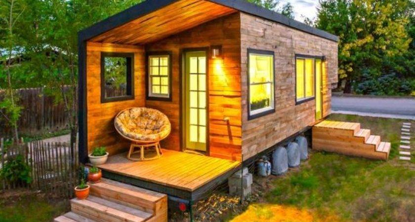 Tiny House Built Bed Flatbed Trailer