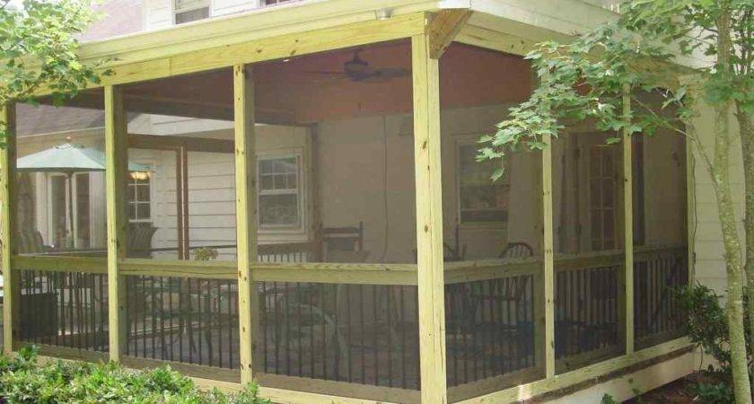 Tips Ideas Screen Porch Railing Ceiling