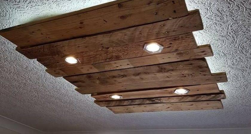 Tips Make Fancy Ceiling Lights Pallet Wood