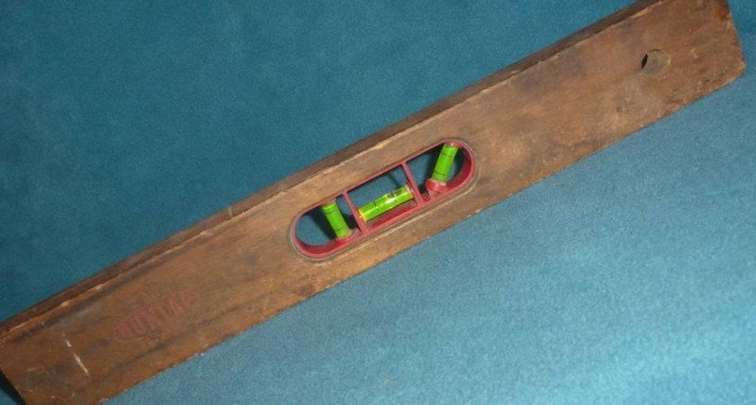 Tools Wooden Level Dunlap Long Wood Vintage