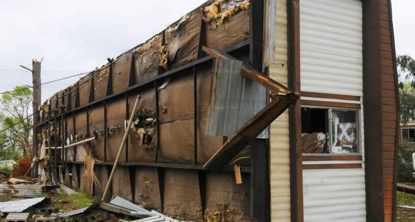 Tornado Severe Storm Destroyed Mobile Home