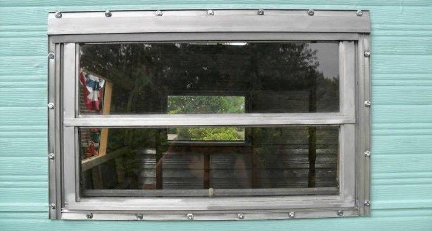 Town Prairie Installing Windows Vintage Camper
