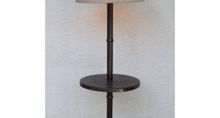 Traditional Floor Lamp Table Bronze Frame Dfohome