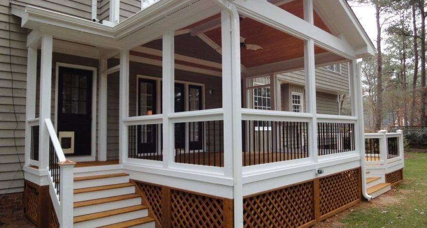 Traditional Front Porch Screened Kits Design
