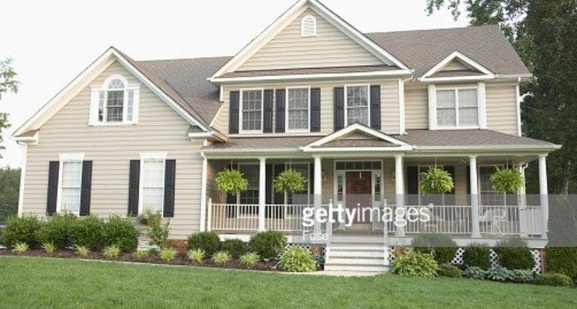 Traditional Style House Large Front Porch