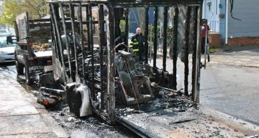 Trailer Catches Fire Sending One Hospital